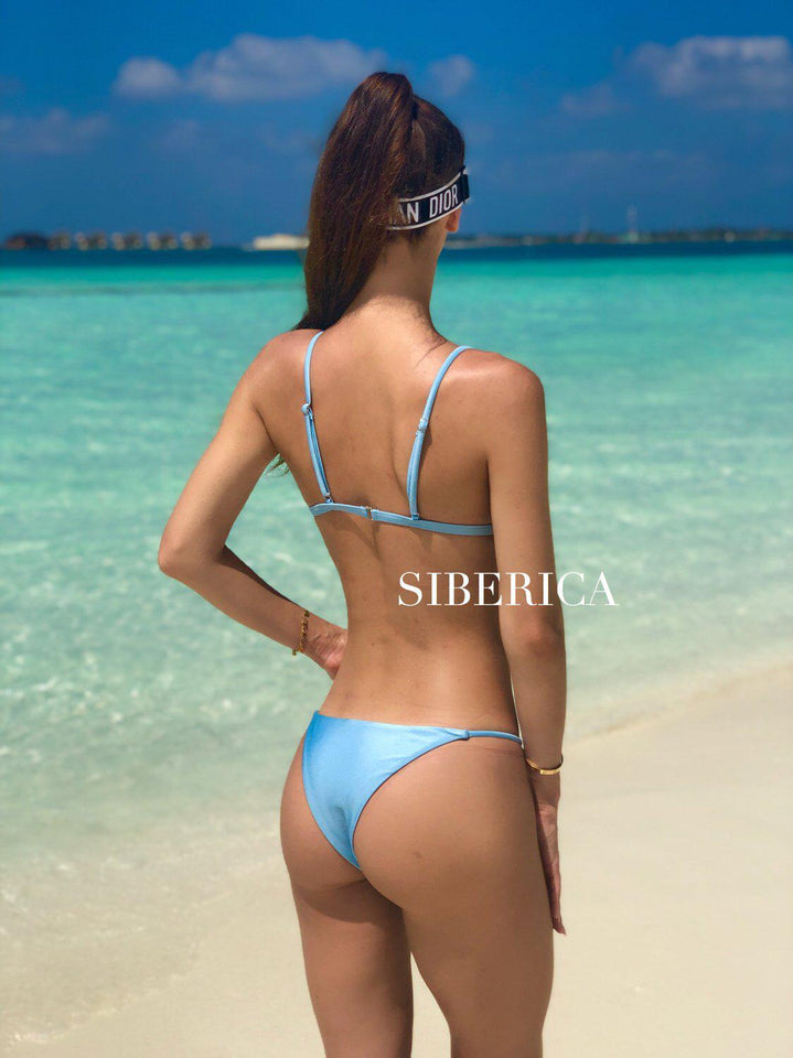 mw_grouped_product, Outlet-Nuvola-PHYSICAL-Siberica Swim-Bikini Set Top & Bottom Top padded Brazilian bottom Model wears size M Bikini for woman Brand: Siberica Swim Care Instructions-