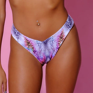Bottom, Resell-Panthera Slip-Siberica Swim-Only Bottom Match with Top to complete the look High Waist bottom with more coverage High quality double fabric with lining Model wears size Small Bikini for woman Brand: Siberica Swim Composition: 85% polyester, 15% spandex Care Instructions-XS-