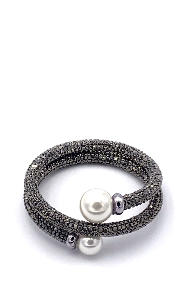 Bracelet - Dressy Diamanté With Pearls