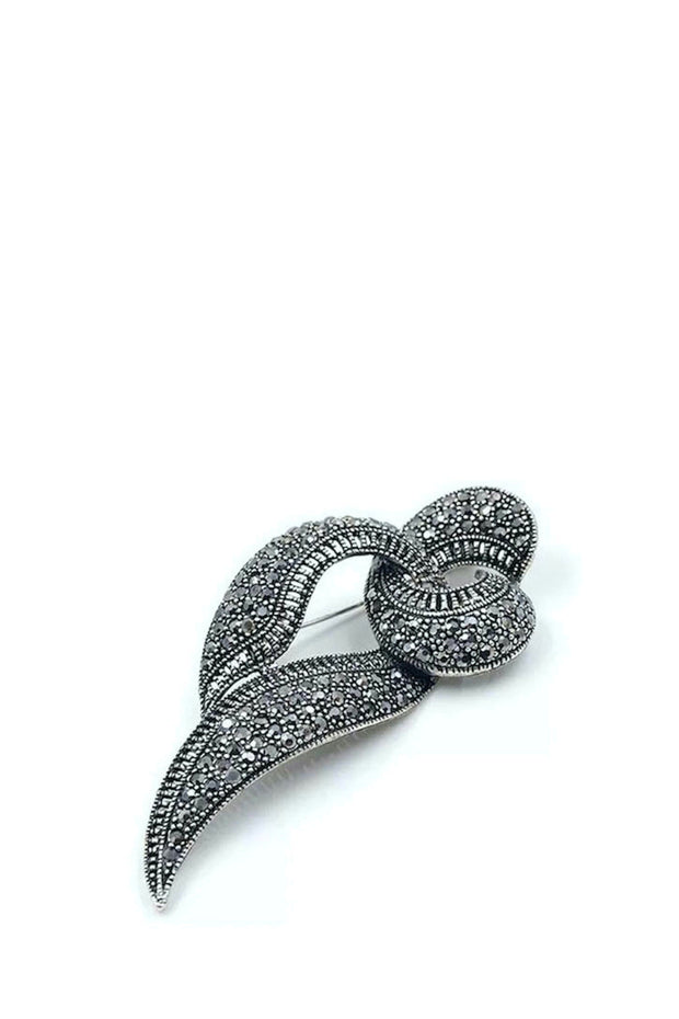 Brooch - Art Deco Marcasite Design