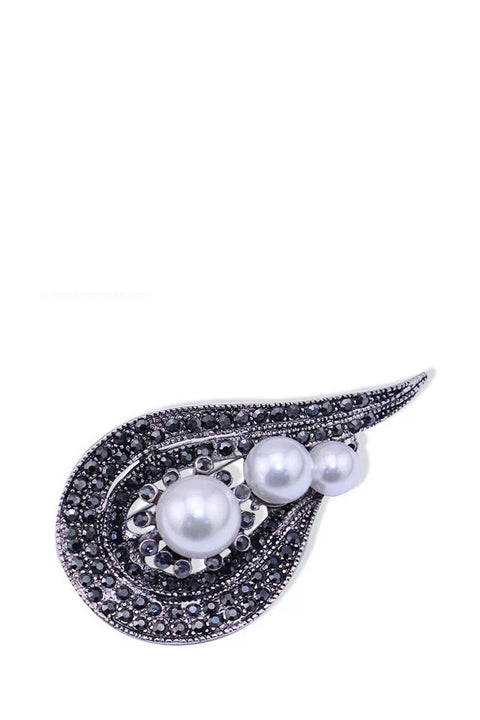 Brooch - Pearl And Marcasite Design