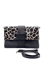 Clutch Bag - Leather Animal Print Cowhide