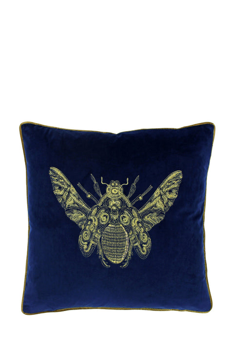 Cushion - Velvet Bee Royal Blue 50x50cm