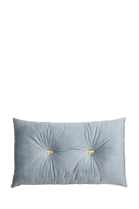 Cushion - Velvet Bee Silver Grey 30x50cm