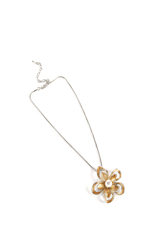 Dante Necklace - Pearl Flower