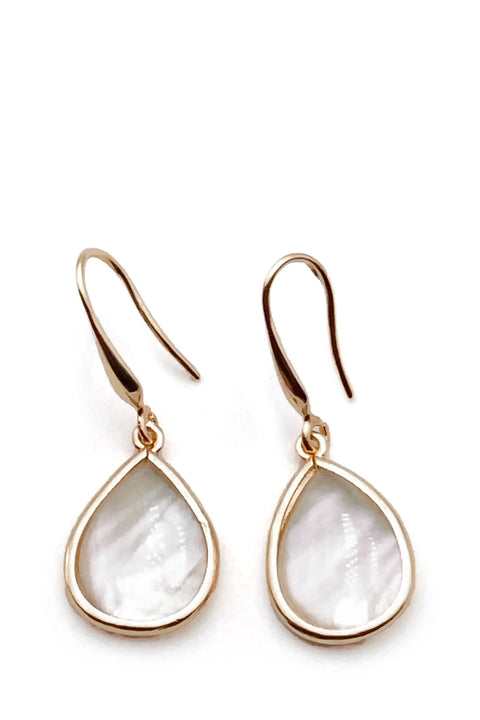 Earrings - Drops Pearl & Yellow Gold