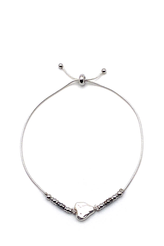 Friendship Bracelet - Heart Silver