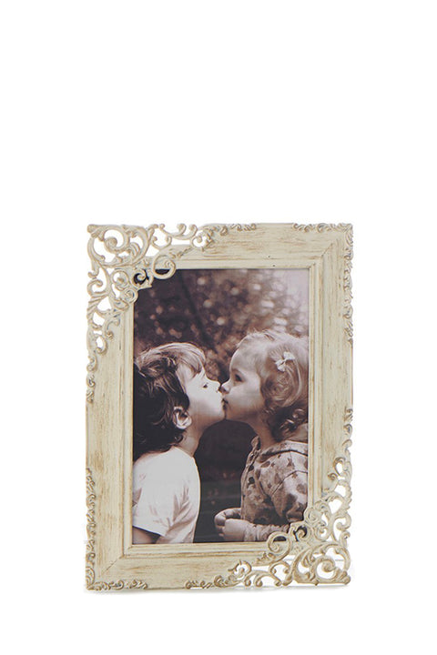 Photo Frame - Lace Old Cream 4x6