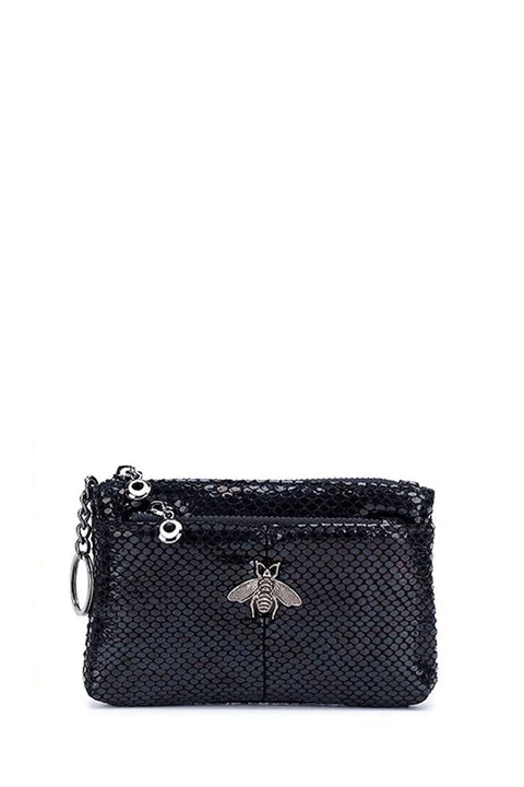Purse - Bee Leather Black