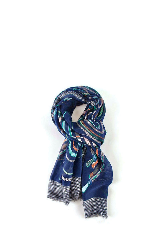 Scarf - Chains Navy