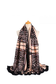 Scarf - Chains & Leopard Print