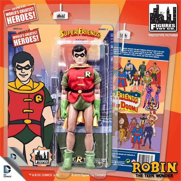 DC Retro Mego Kresge Style Super Friends Robin Series 1 Action Figure - Action Figure Warehouse Australia | Comic Collectables