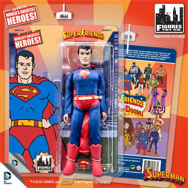 DC Retro Mego Kresge Style Super Friends Superman Series 1 Action Figure - Action Figure Warehouse Australia | Comic Collectables