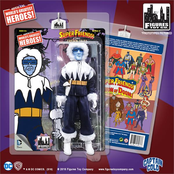 DC Retro Mego Kresge Style Super Friends Captain Cold Series 3 Action Figure - Action Figure Warehouse Australia | Comic Collectables