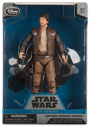 Star Wars Disney Store 6 Inch Elite Series Die Cast Cassian Andor