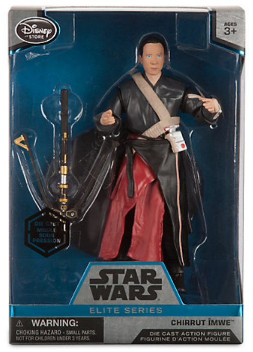 Star Wars Disney Store 6 Inch Elite Series Die Cast Chirrut Imwe