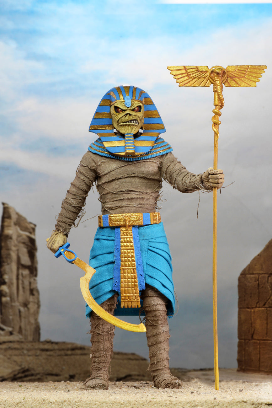 Iron Maiden Neca Eddie Powerslave Clothed 8 Inch Action Figure