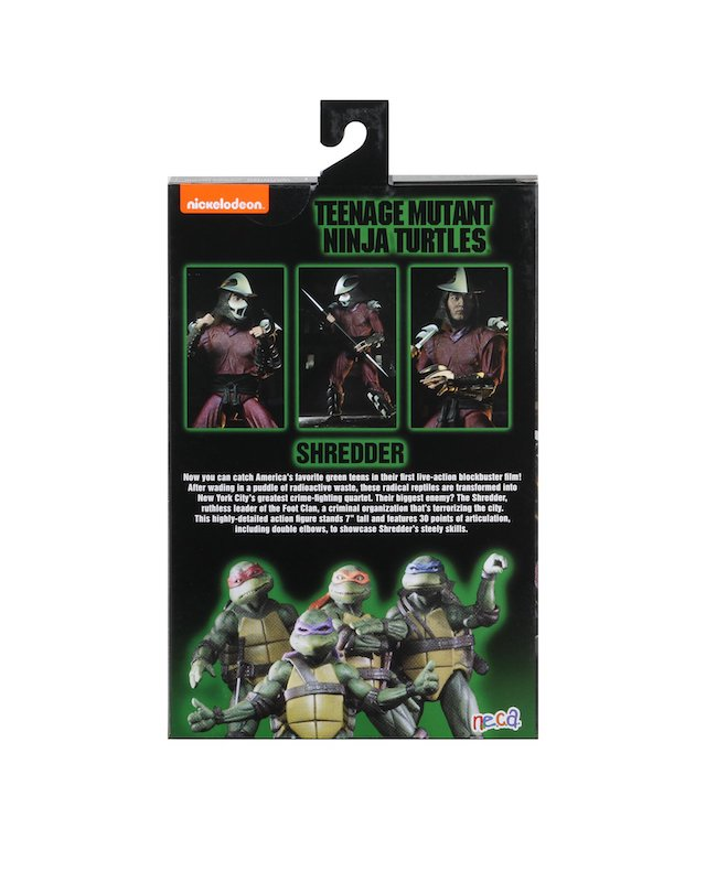 Teenage Mutant Ninja Turtles Neca Shredder 7 Inch Action Figure Pre-Order