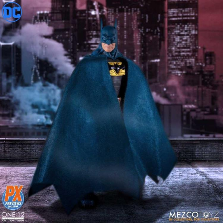 DC Mezco PX Exclusive Batman Blue Supreme Knight One:12 Scale Action Figure Pre-Order