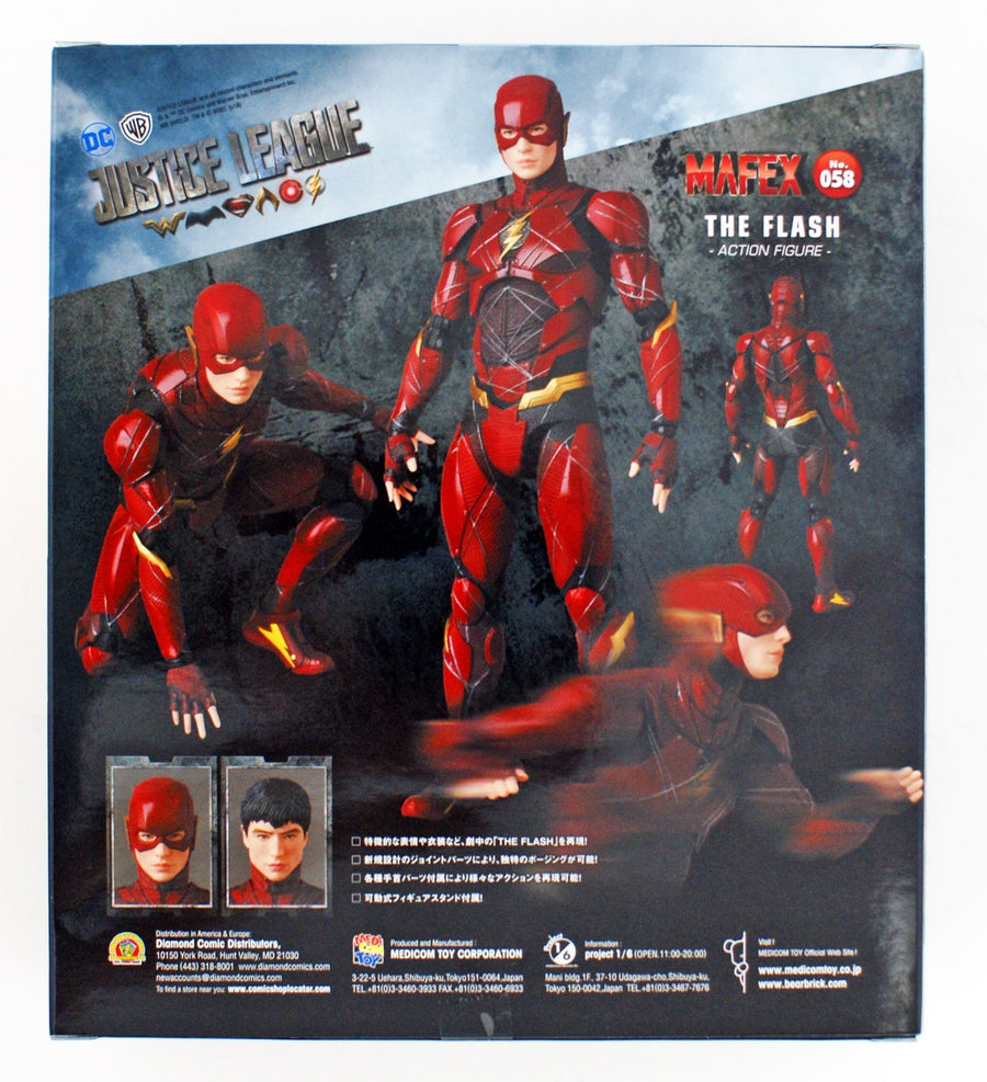 DC Mafex Justice League The Flash Action Figure #58 Pre-Order - Action Figure Warehouse Australia | Comic Collectables