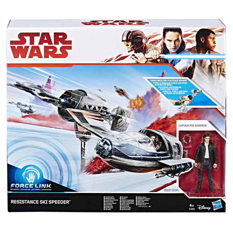 Star Wars The Last Jedi Resistance Ski Speeder 3.75 Inch