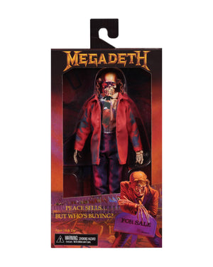 Megadeth Neca Vic Rattlehead Peace Sells Clothed 8 Inch Action Figure