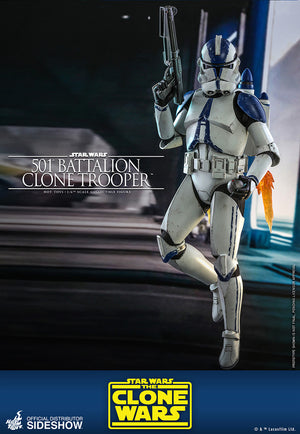 Star Wars Hot Toys The Clone Wars 501st Battalion Clone Trooper 1:6 Scale Action Figure TMS022 Pre-Order