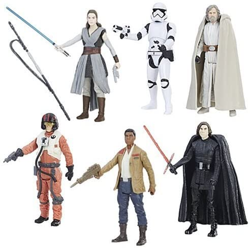 Star Wars The Last Jedi Wave 1 Set Of 6 Action Figures 3.75 Inch