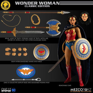 DC Mezco Exclusive Classic Wonder Woman One:12 Scale Action Figure