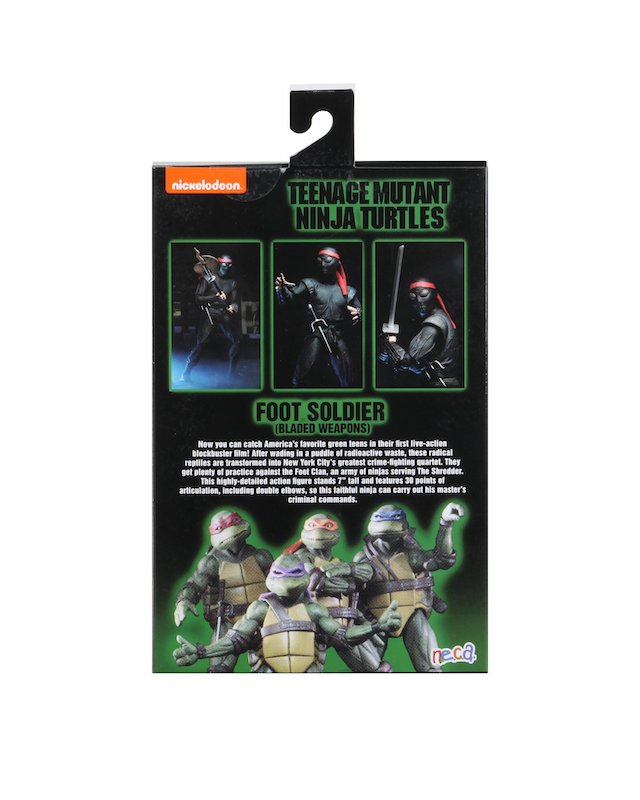Teenage Mutant Ninja Turtles Neca Foot Soldier Bladed Weapons Action Figure Pre-Order