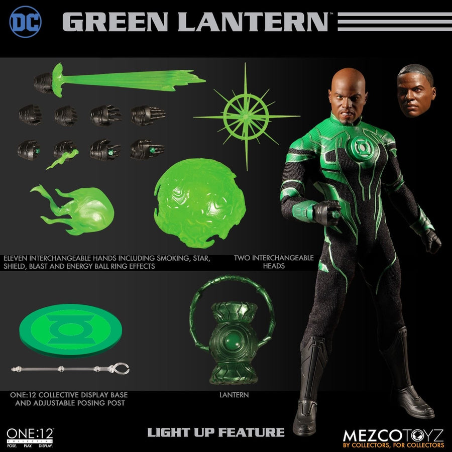 DC Mezco Green Lantern John Stewart One:12 Scale Action Figure