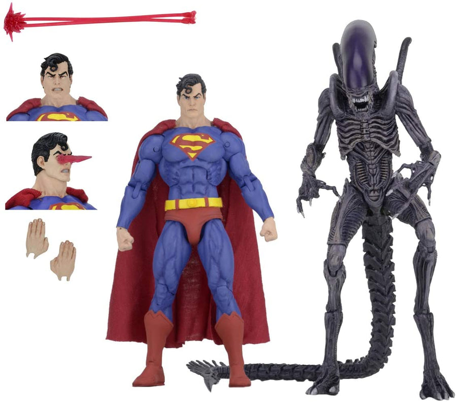 DC Alien Neca Exclusice Superman vs Aliens Action Figure 2-Pack