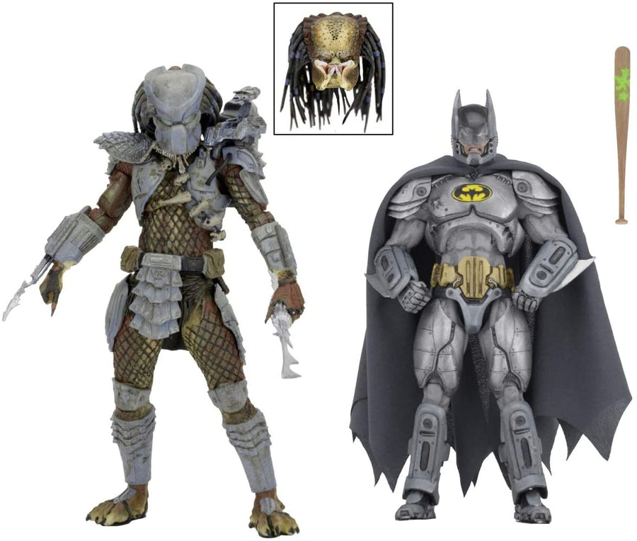 DC Predator Neca Exclusice Batman vs Predator Action Figure 2-Pack