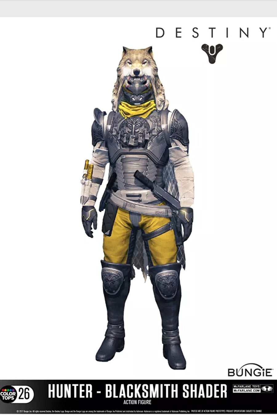 Destiny Exclusive Iron Banner Hunter Blacksmith Shader Action Figure