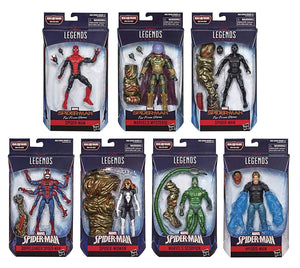 Marvel Legends Spider-Man Far From Home Series BAF Molten Man Set Of Seven Action Figures