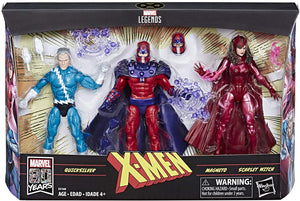 Marvel Legends 80th Anniversary Series Magneto Quicksilver & Scarlet Witch Action Figure 3-pack