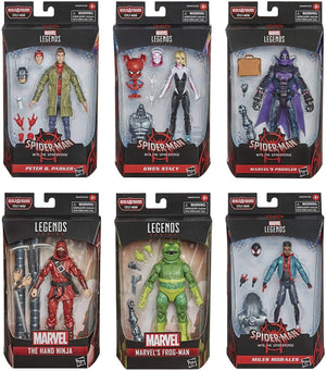 Marvel Legends Spider-Man Into The Spiderverse Series BAF Stilt Man Set of 6 Action Figures Pre-Order