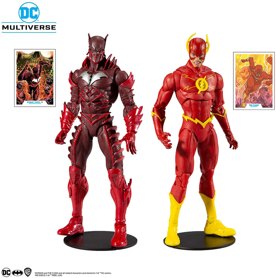 DC Multiverse McFarlane Exclusive Batman Red Death & The Flash Action Figure 2-Pack