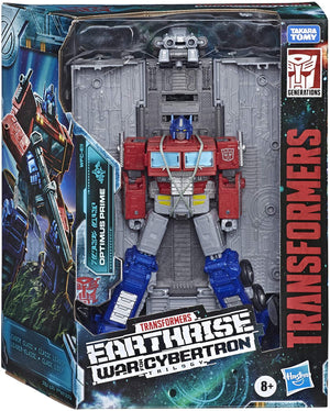 Transformers Earthrise War For Cybertron Leader Optimus Prime w/ Trailer Action Figure