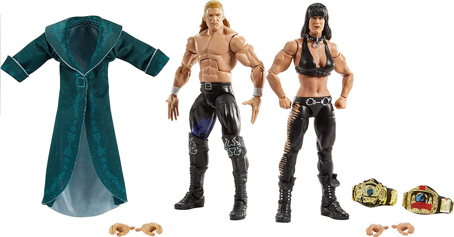 WWE Wrestling Elite Series Triple-H & Chyna Action Figure 2-Pack