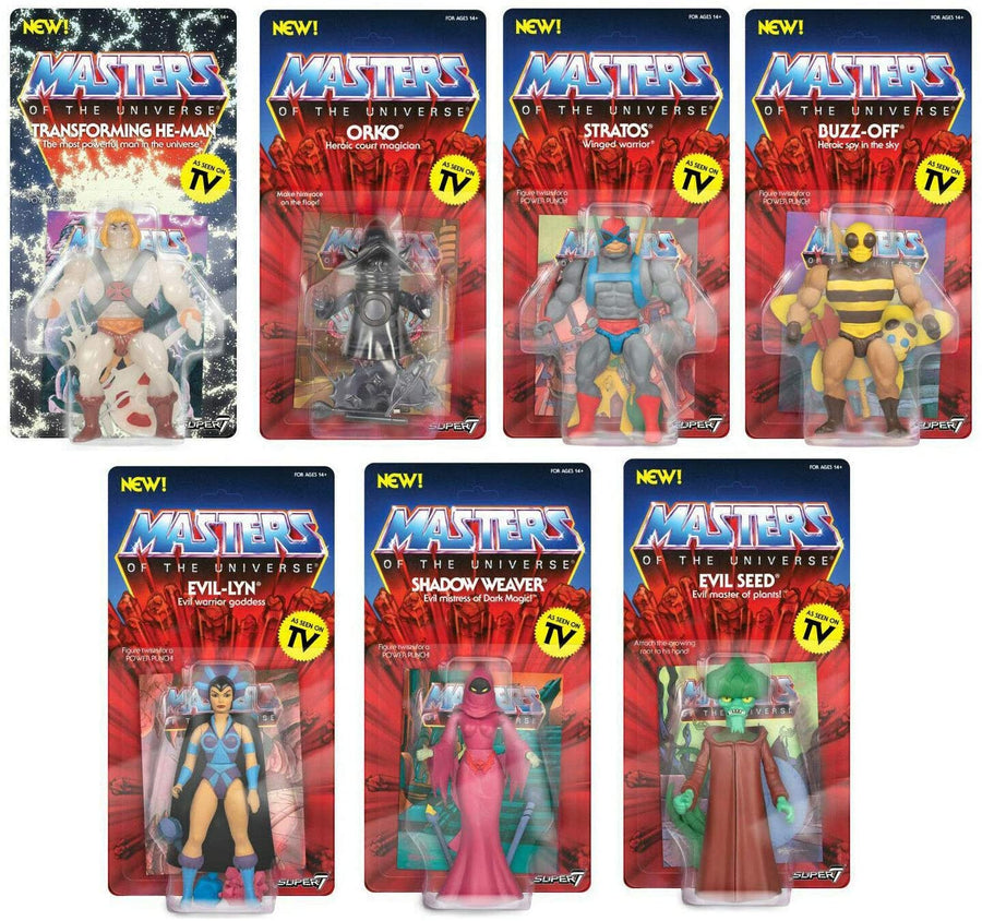 Masters Of The Universe Vintage Wave 4 Set Of 7 Action Figures