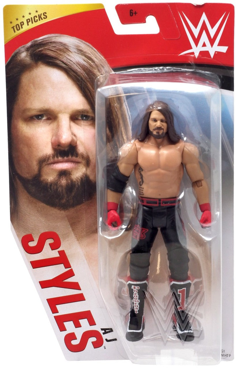 WWE Wrestling Basic Series 2020 Top Picks AJ Styles Action Figure