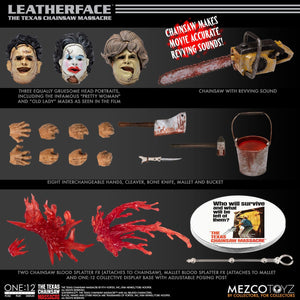 Texas Chainsaw Massacre Mezco Leatherface 1974 Action Figure One:12 Scale Action Figure Pre-Order