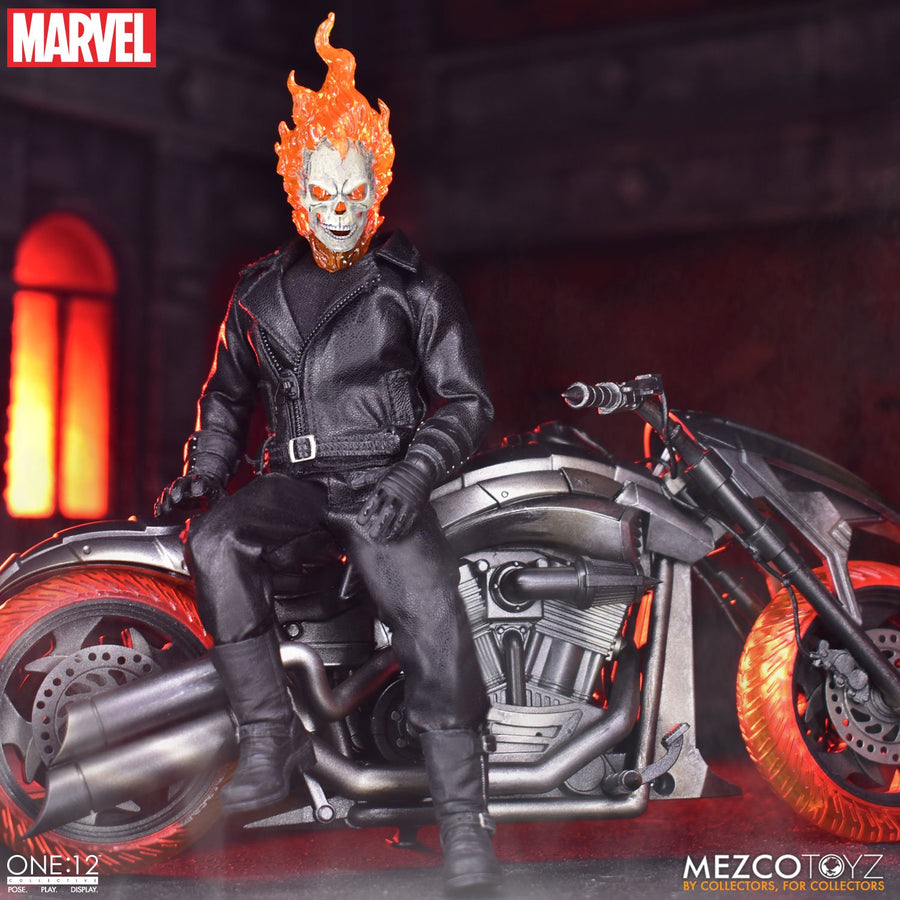 Marvel Mezco Ghost Rider & Hell Cycle One:12 Scale Action Figure Pre-Order