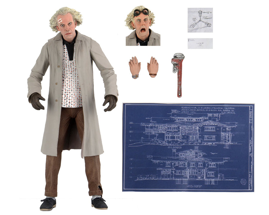 Back To The Future Neca Ultimate Doc Brown Action Figure Pre-Order