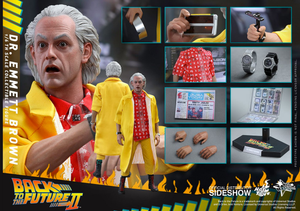 Back To The Future Hot Toys Part II Doc Emmett Brown 1:6 Scale Action Figure HOTBTTF2DOC - Action Figure Warehouse Australia | Comic Collectables