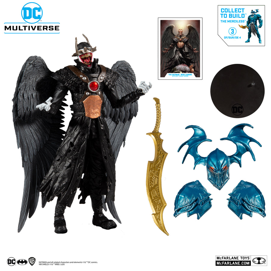 DC Multiverse McFarlane Merciless Series The Batman Who Laughs with Tyrant Wings Action Figure