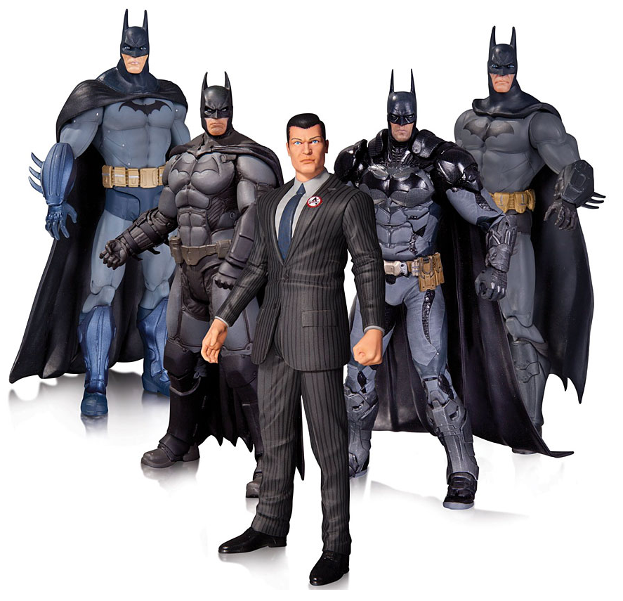 DC Batman Arkham Origins Series Batman Asylum Origins City Knight & Bruce Wayne Box Set of Five - Action Figure Warehouse Australia | Comic Collectables
