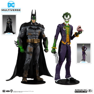 DC Multiverse McFarlane Exclusive Arkham Asylum Batman & The Joker Action Figure 2-Pack