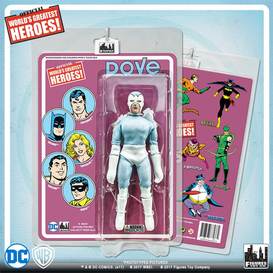 DC Retro Mego Kresge Style Dove Retro Card Action Figure - Action Figure Warehouse Australia | Comic Collectables